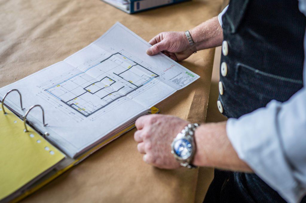 Bauleitung Plan