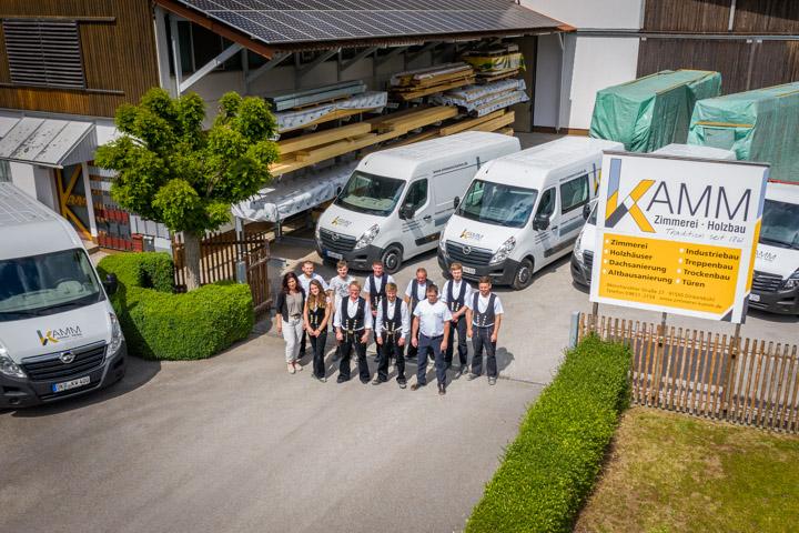 Zimmerei Kamm Team Luftbild